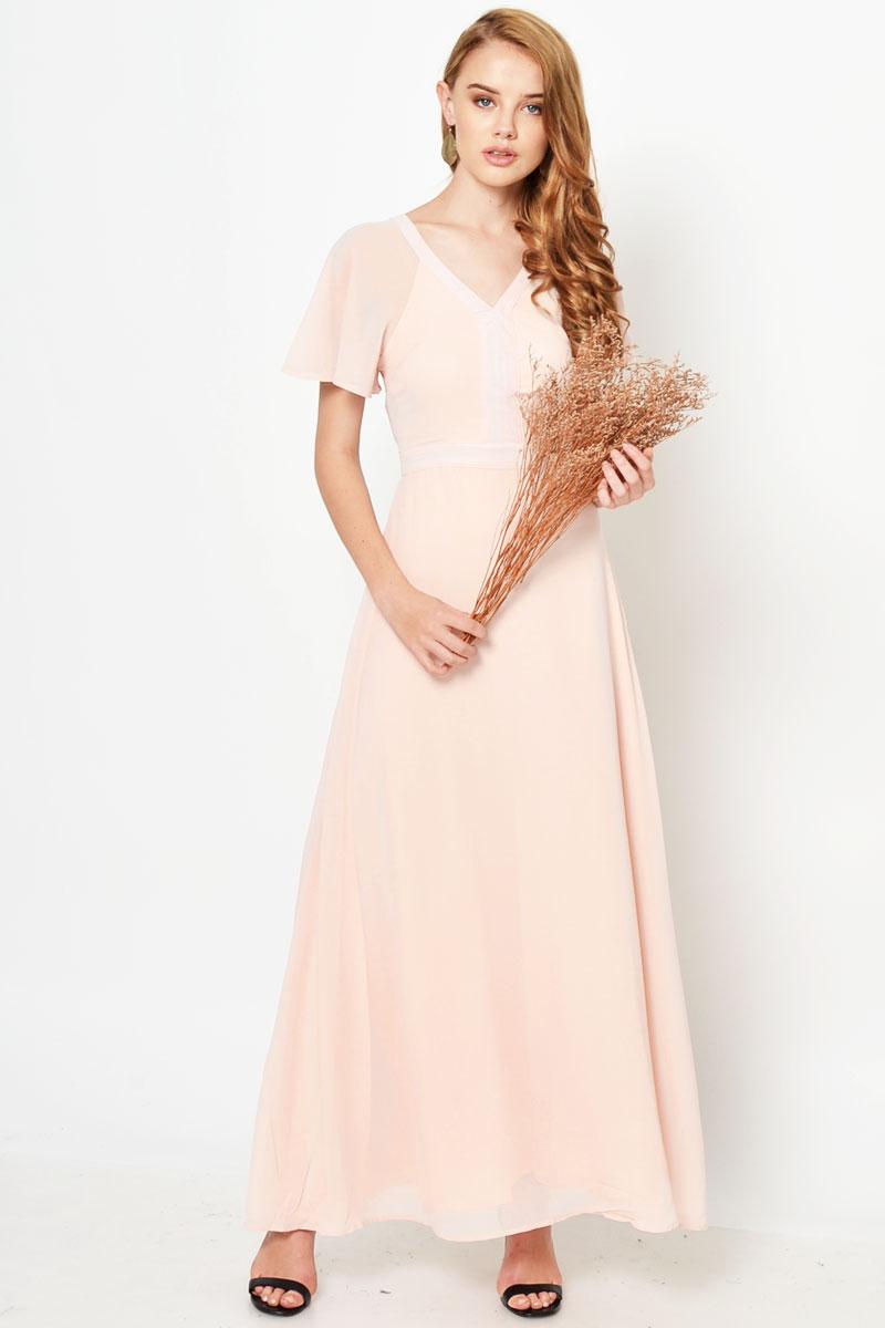 SOFYA CHIFFON MAXI DRESS PINK