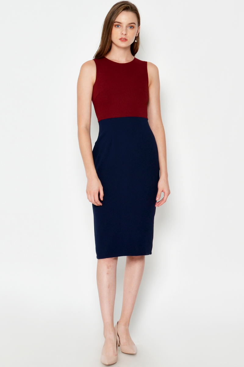 JOSETTI COLOURBLOCK DRESS