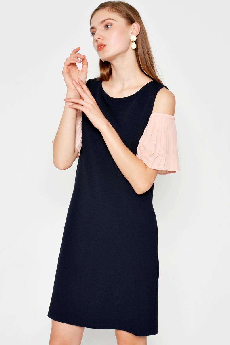PRESLEY COLD SHOULDER DRESS