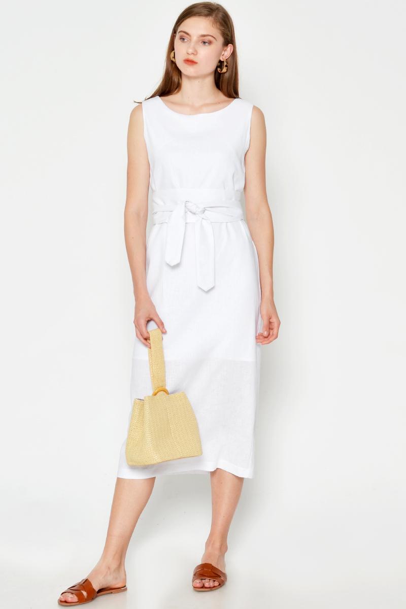 NOAH LINEN OBI BELT DRESS