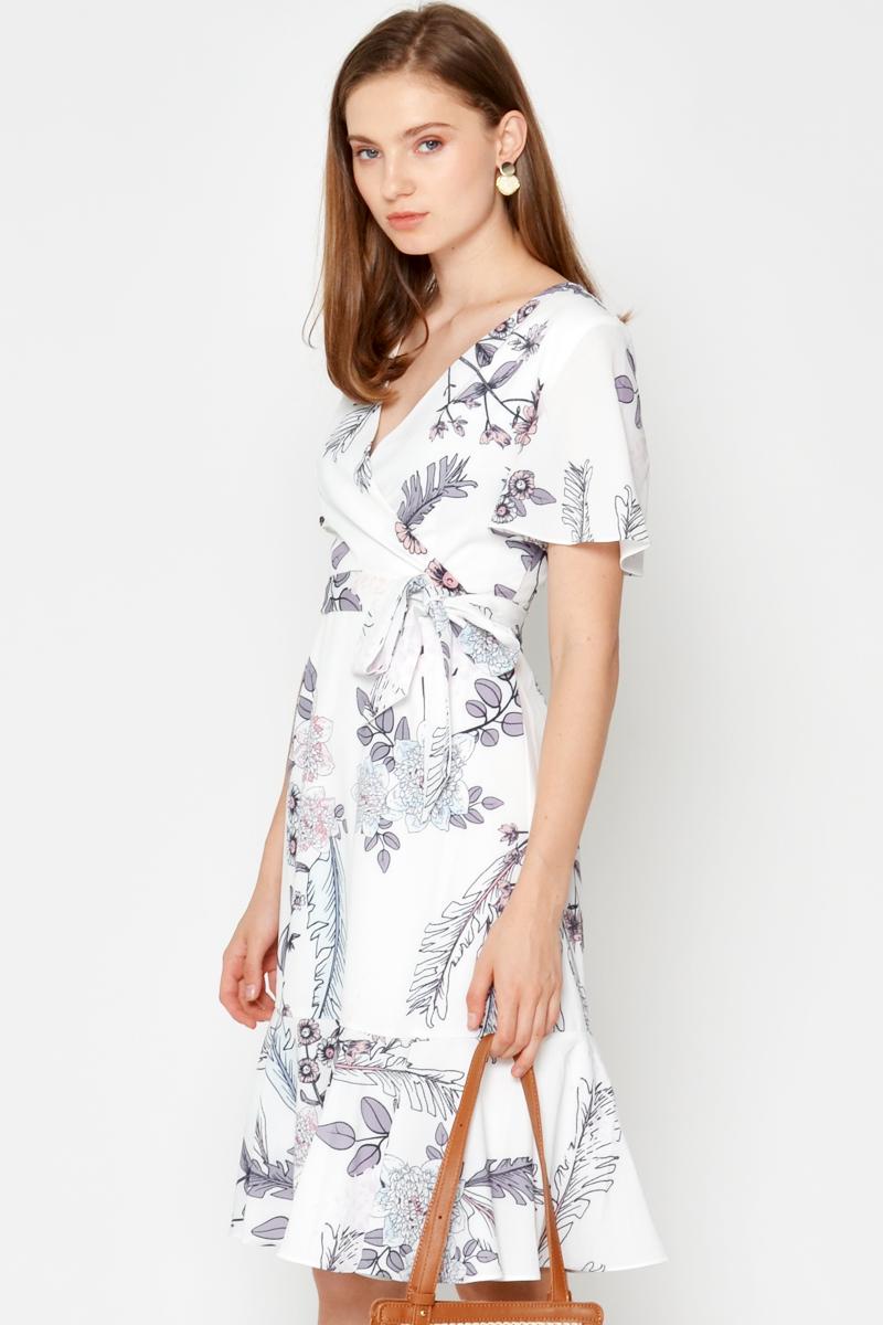 LYNETTE FLORAL WRAP DRESS