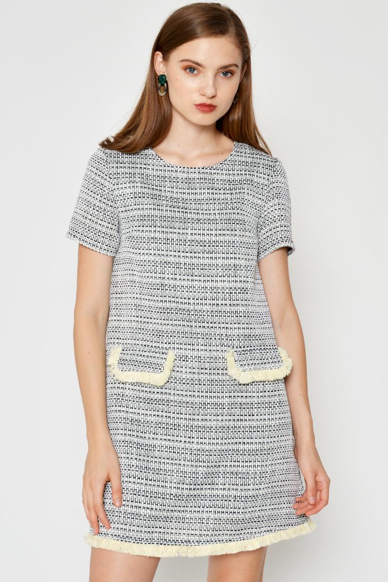 EMILIA TWEED SHIFT DRESS