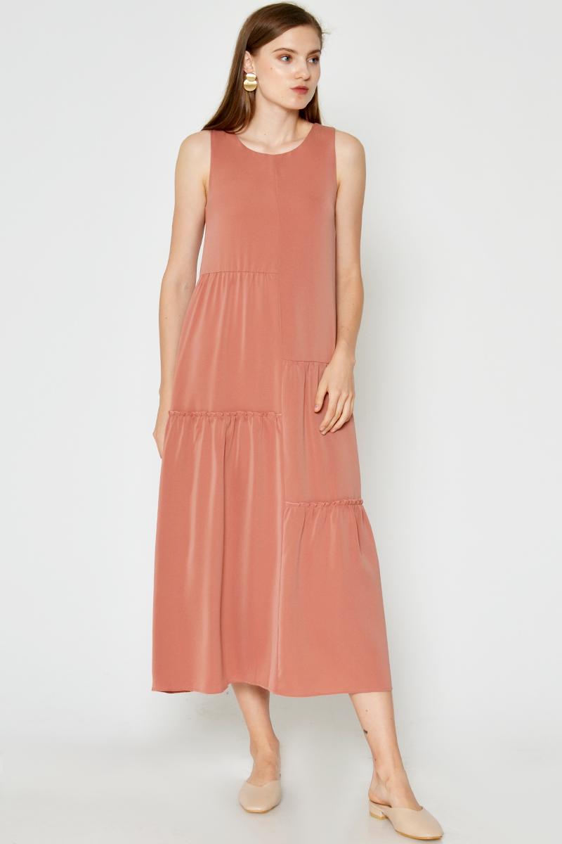 SABINA RUCHED MAXI DRESS