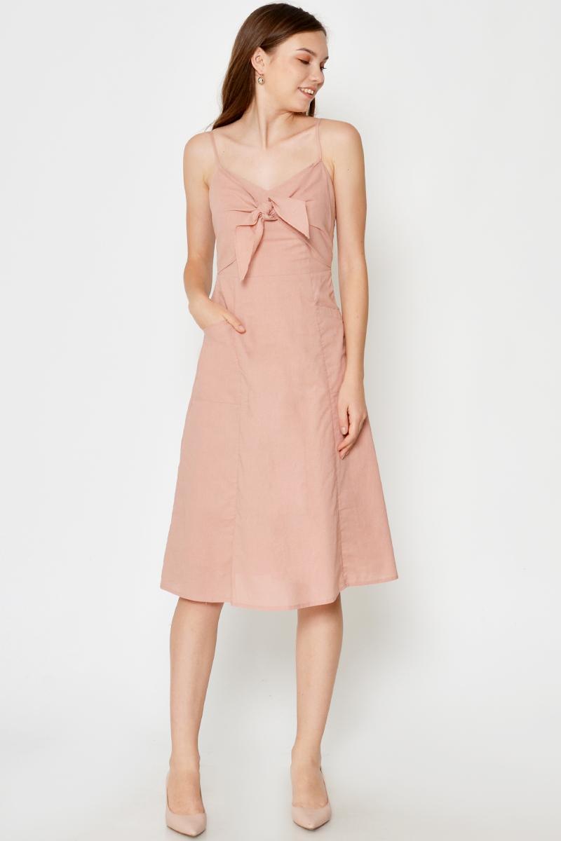 GIARA TIE FRONT POCKET DRESS