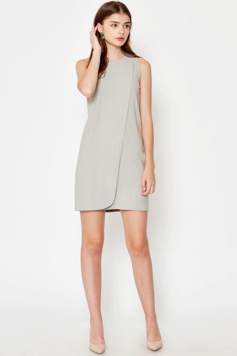 GALINA LAYERED SHIFT DRESS