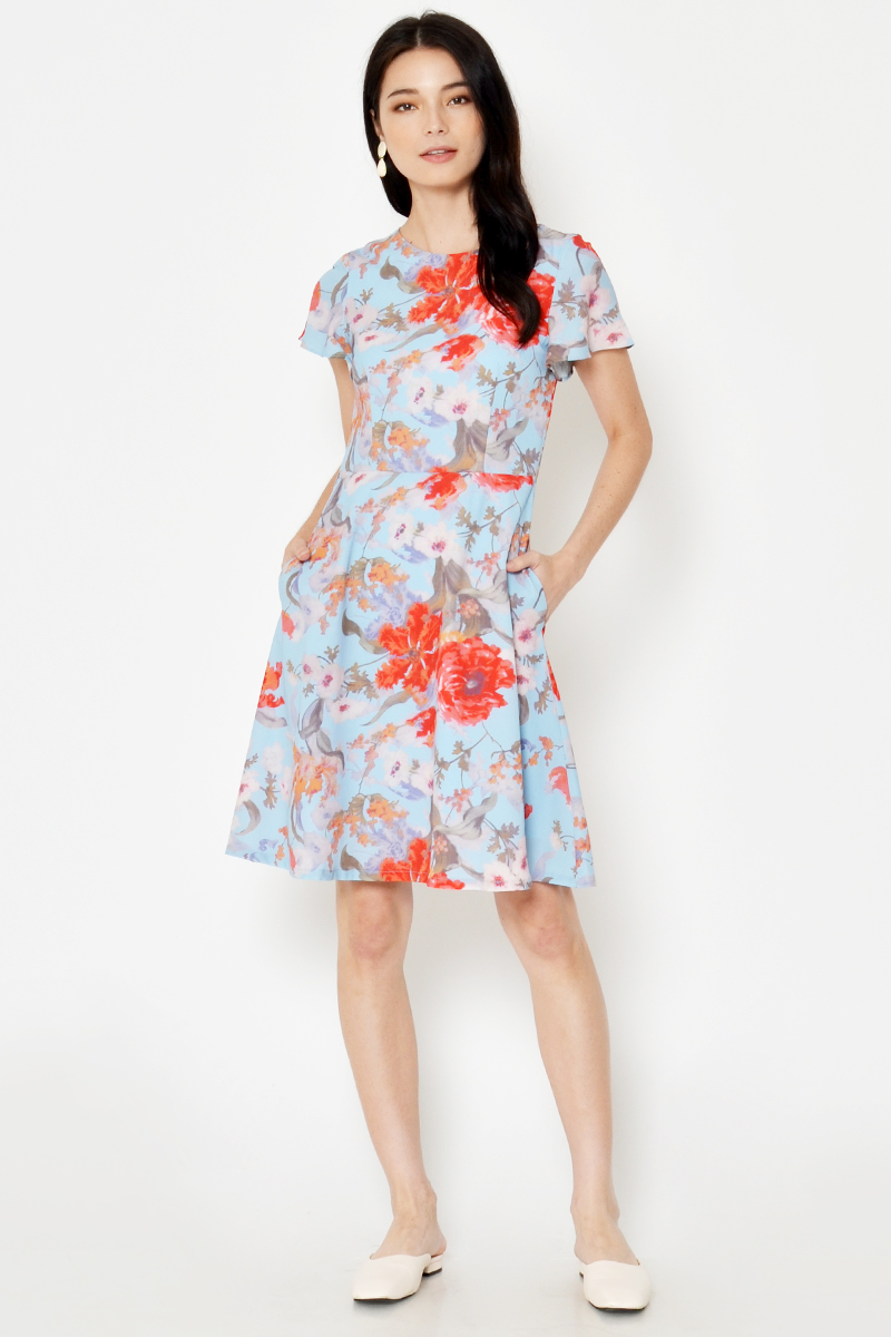 DESSA FLORAL FLARE DRESS