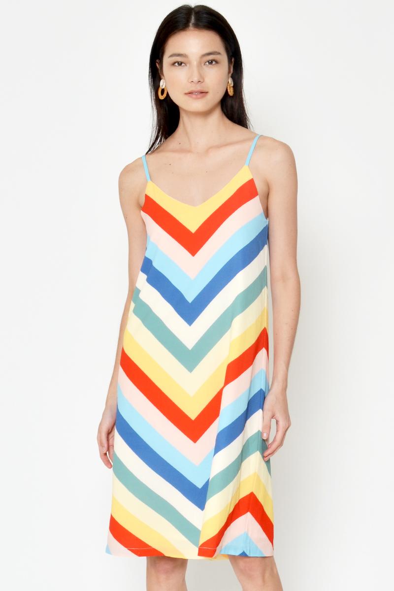 OLESIA RAINBOW DRESS W SASH