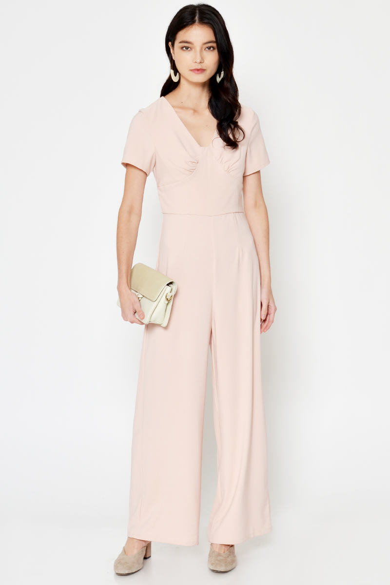 CAROLE RUCHED JUMPSUIT
