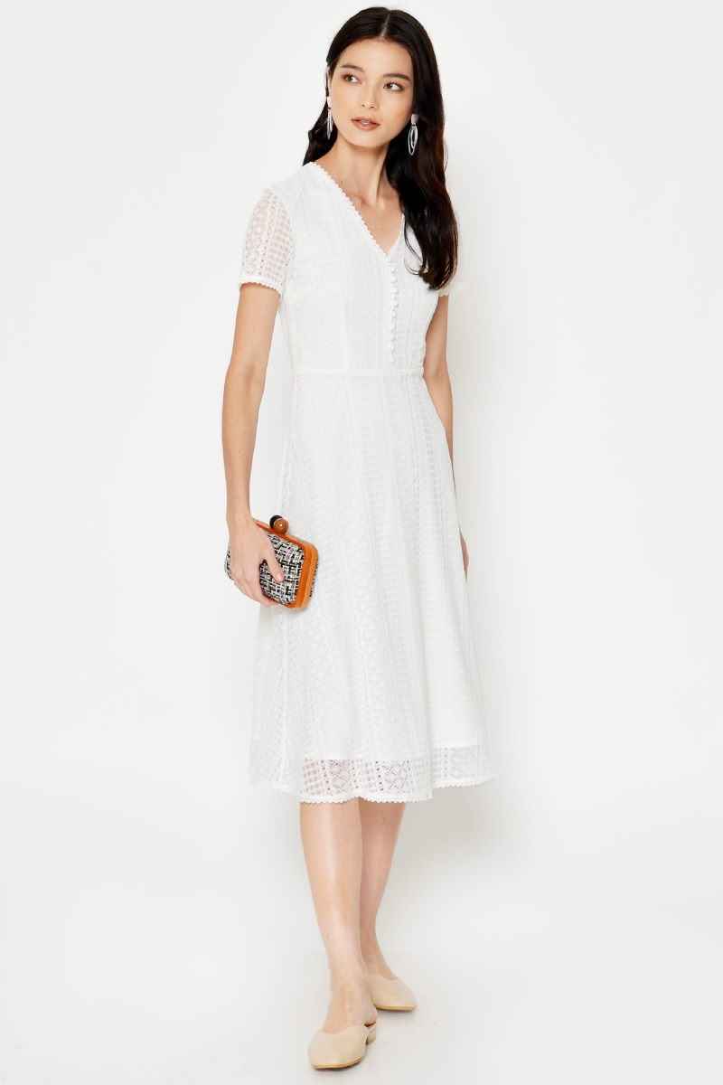 JENNEVA LACE MIDI DRESS