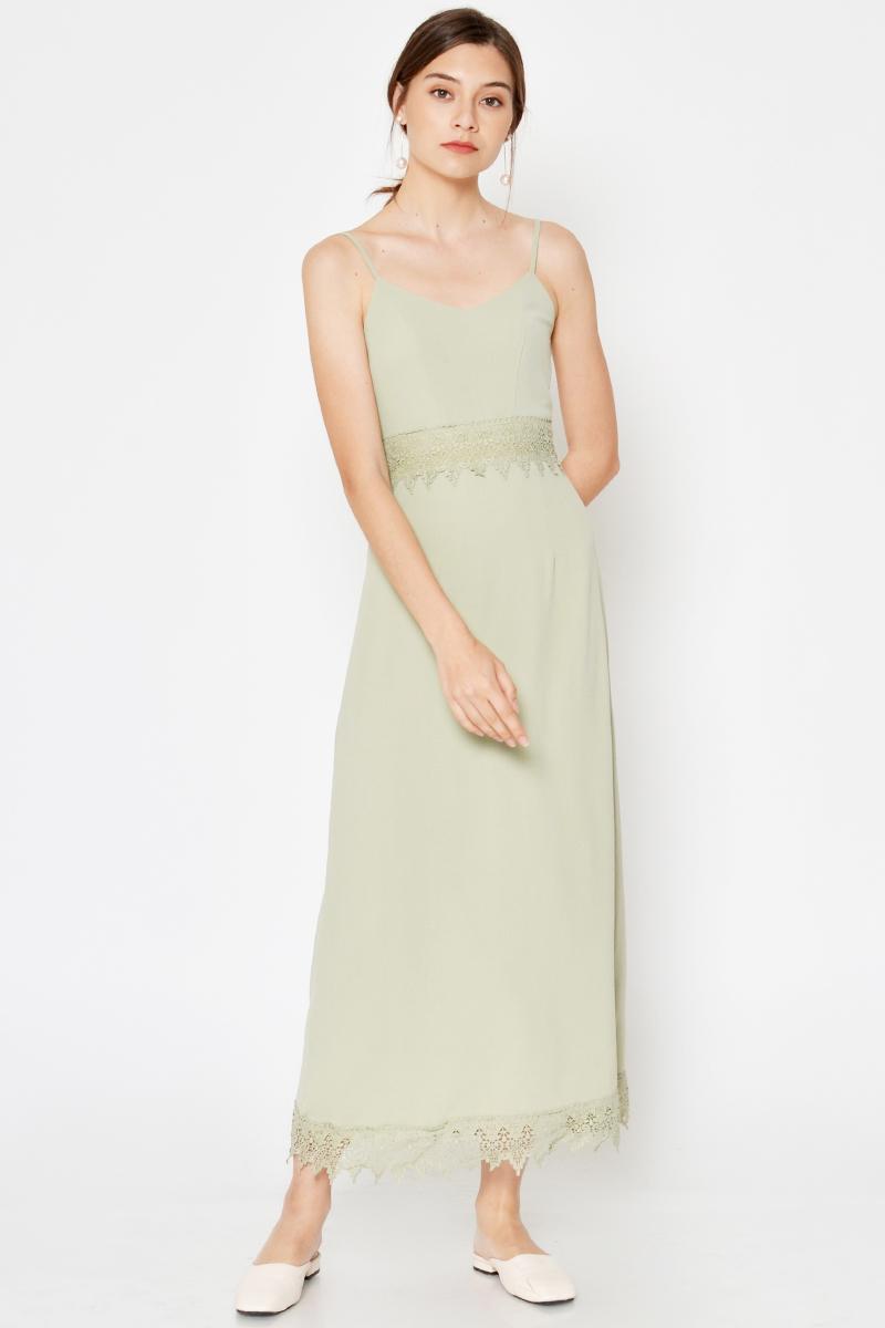 AMELINE CROCHET MAXI DRESS