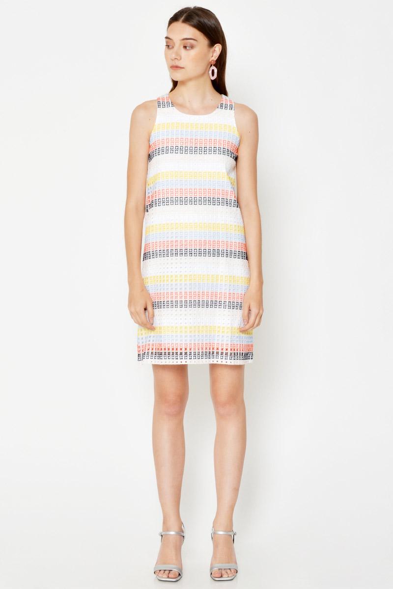 LOUISA CROCHET SHIFT DRESS