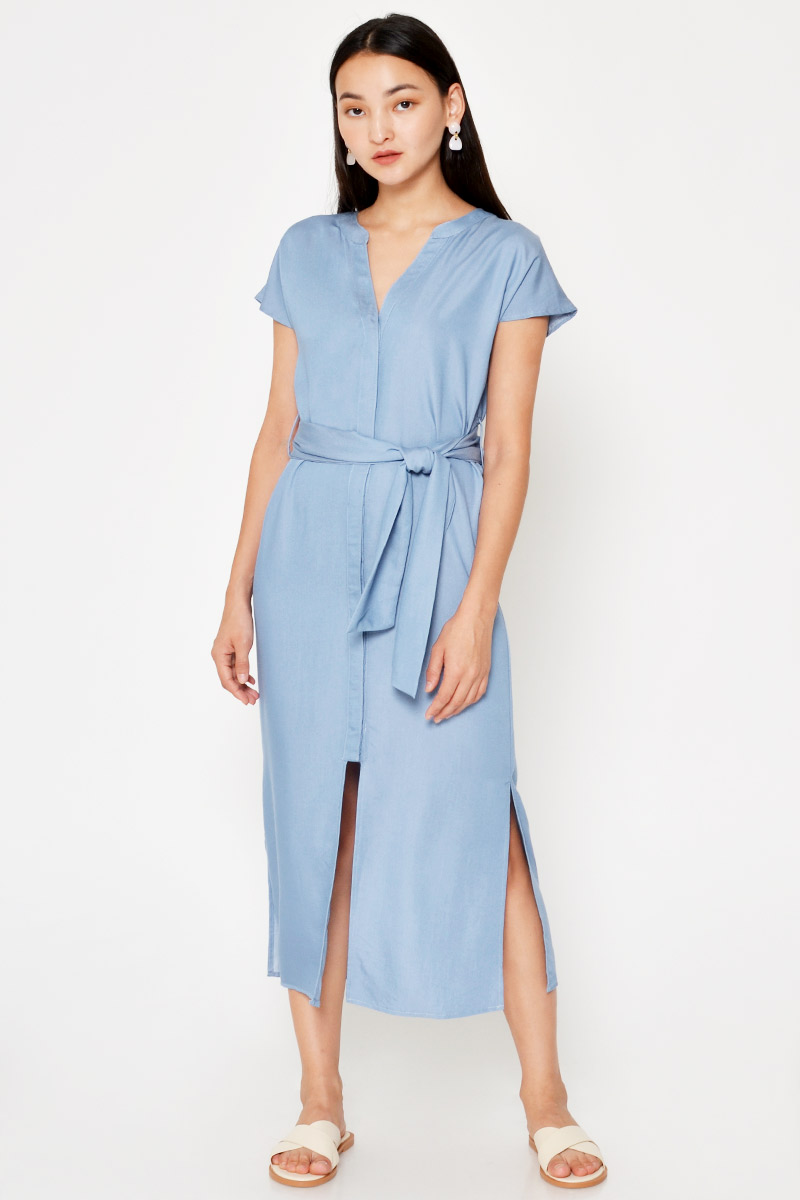AYARA TENCEL MIDI DRESS