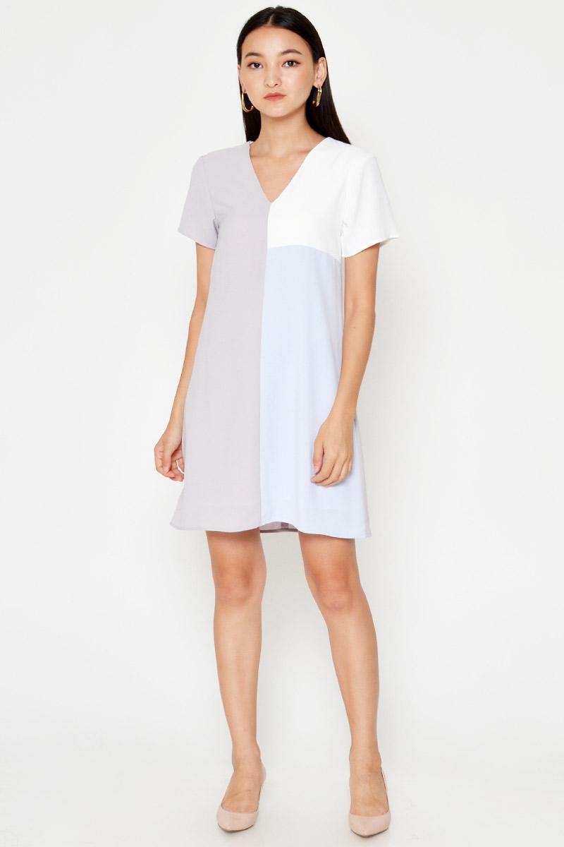 ELDRI COLOURBLOCK SHIFT DRESS