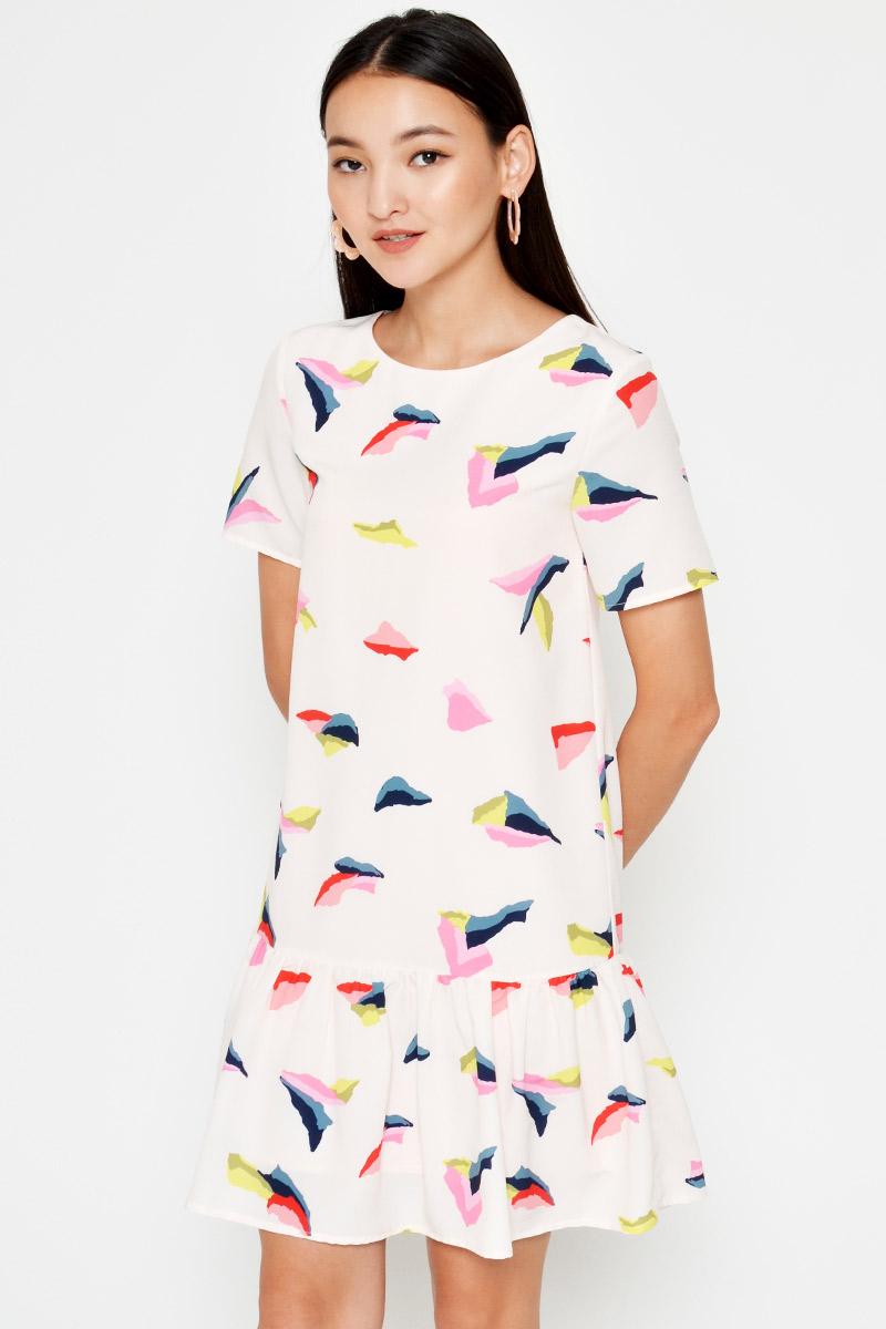 KELLINA ABSTRACT DROPWAIST DRESS