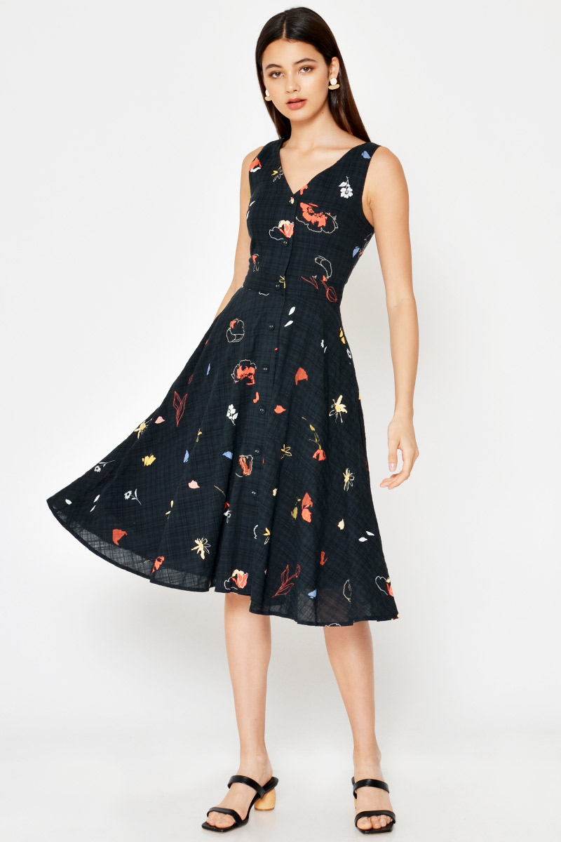 NARIA FLORAL SWING DRESS