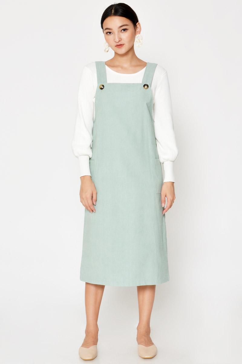 BESSIE CORDUROY OVERALL DRESS