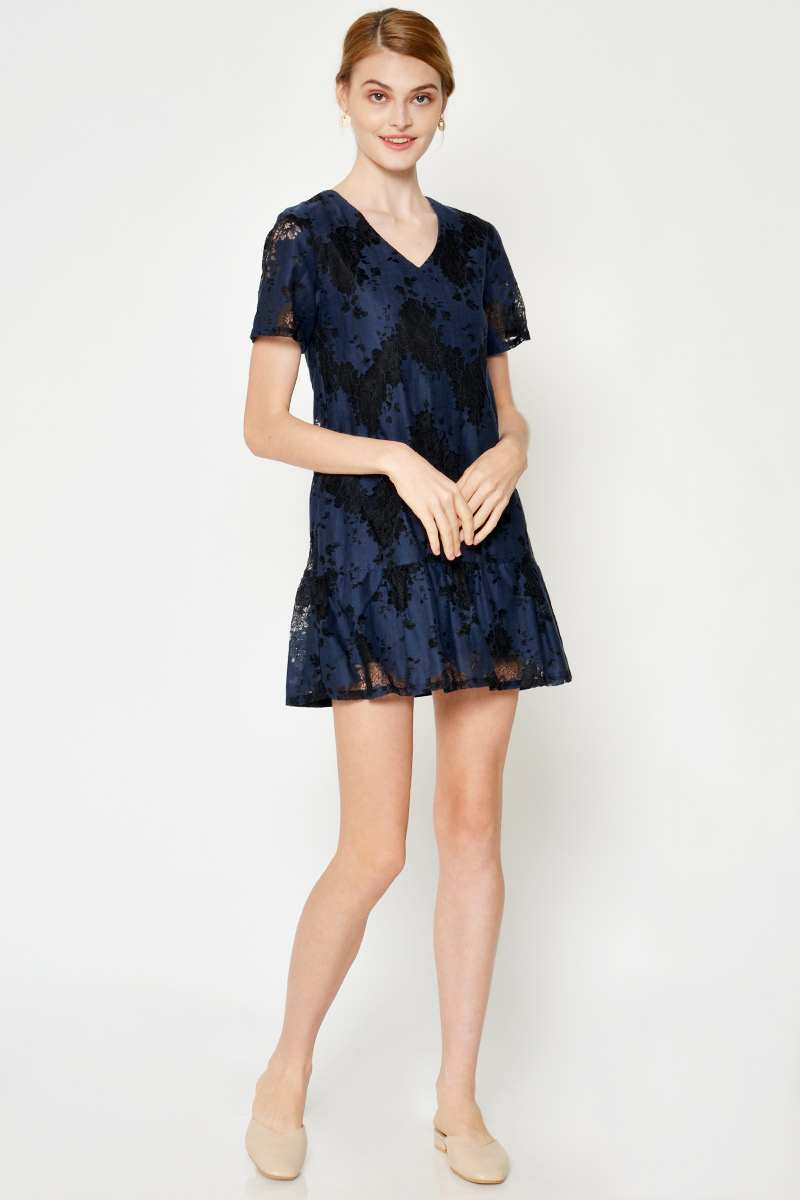 BECKY CONTRAST LACE PLAYSUIT