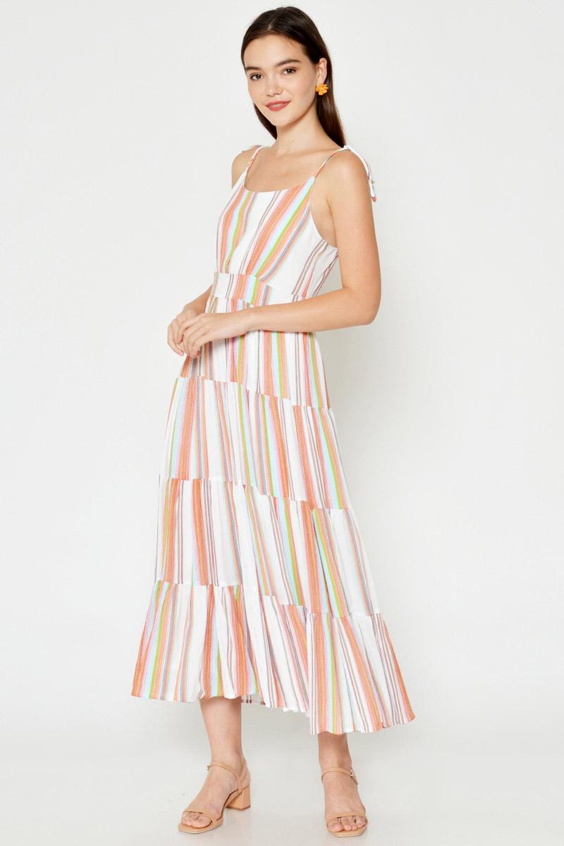 CHELSEY MULTICOLOURED MAXI DRESS