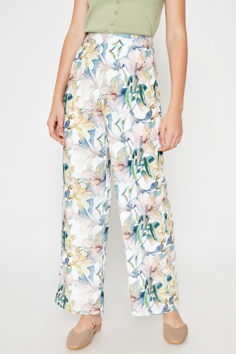 ELSA FLORAL HIGHWAIST FLARE PANTS