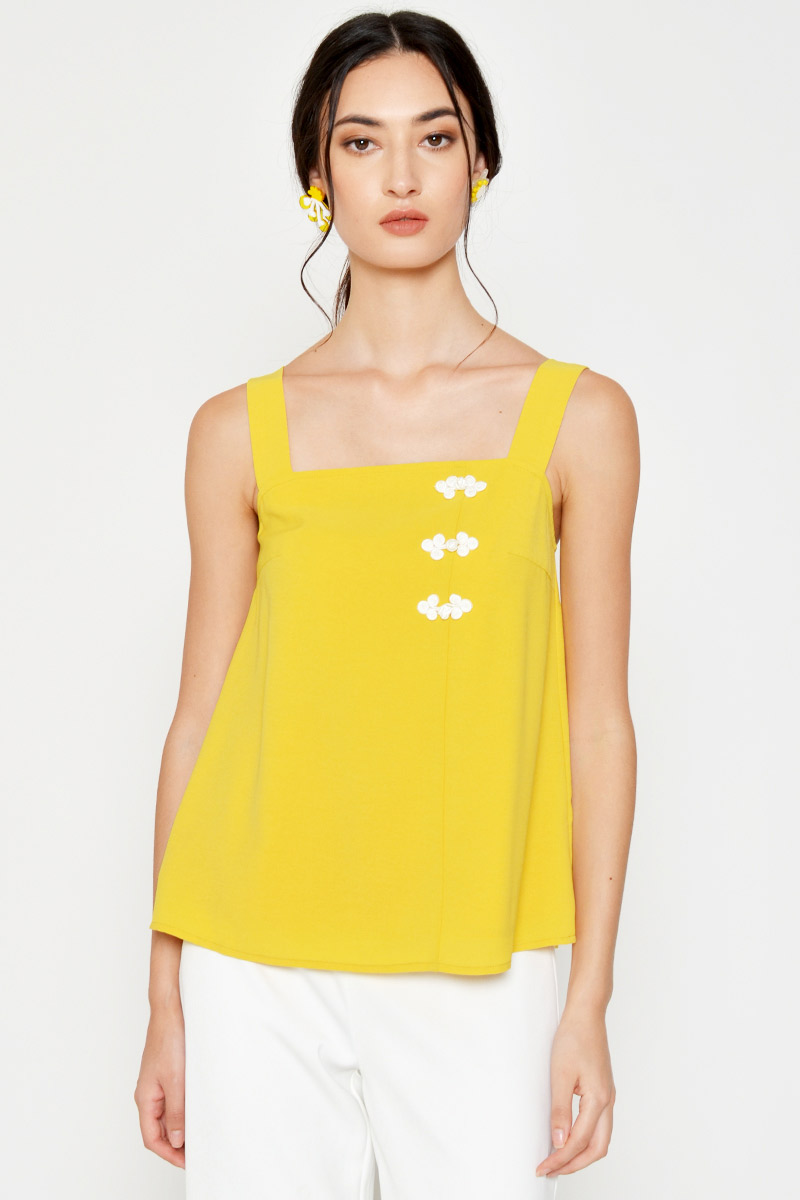 LILYTH CHINESE BUTTON TOP