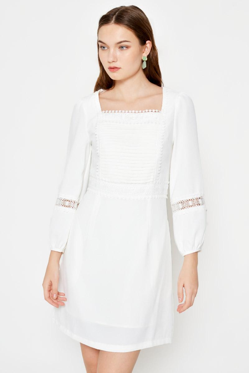 SEINA CROCHET CUTOUT DRESS