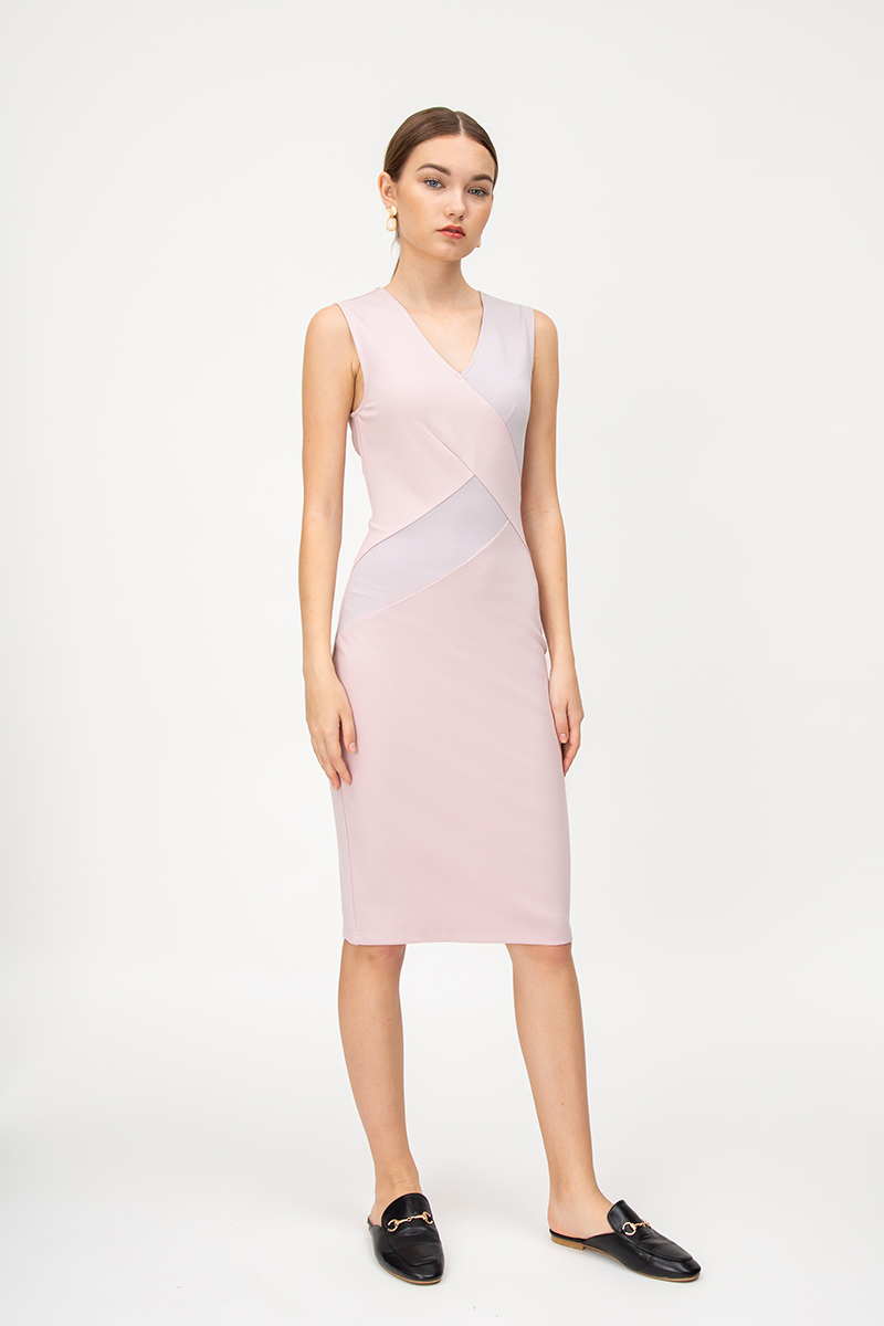 AERITH COLOURBLOCK BODYCON DRESS