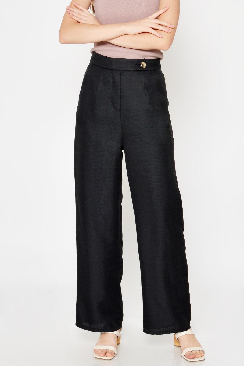 JARAH HIGHWAIST BUTTON FLARE PANTS