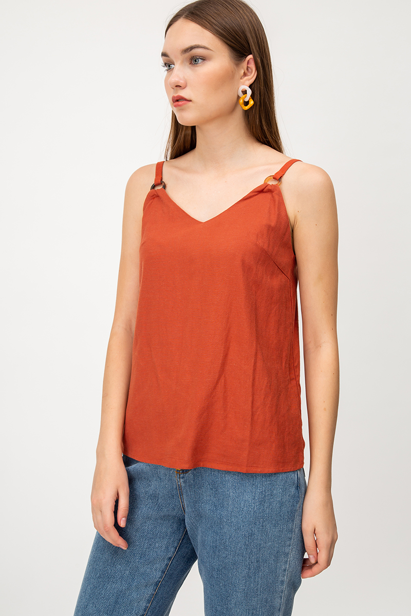 VIOLA TORTOISESHELL RING CAMI TOP