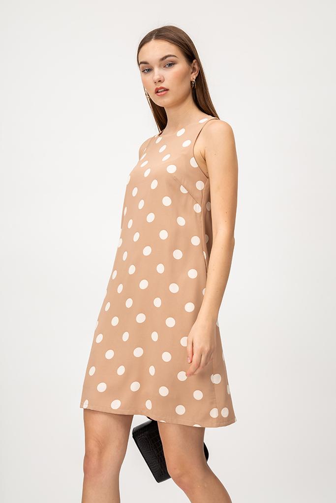 IRENE POLKADOT SHIFT DRESS