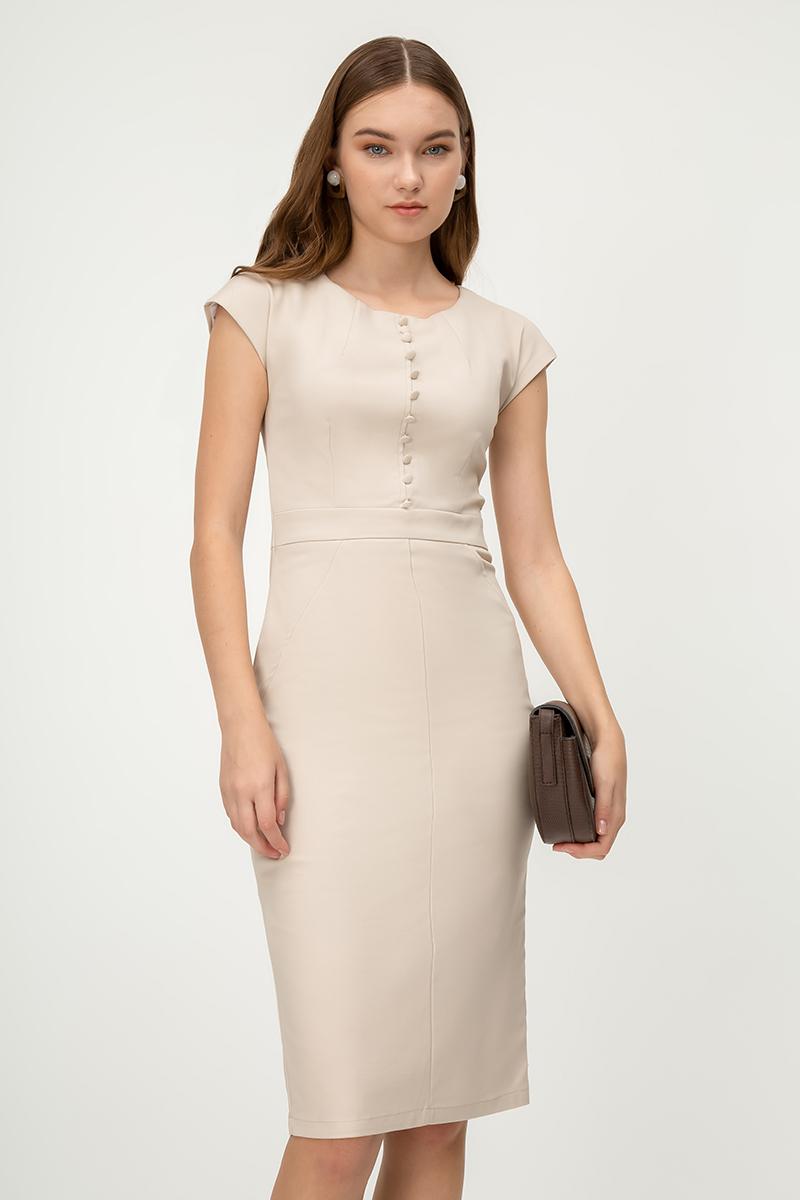 ODYNE BUTTON SHEATH DRESS