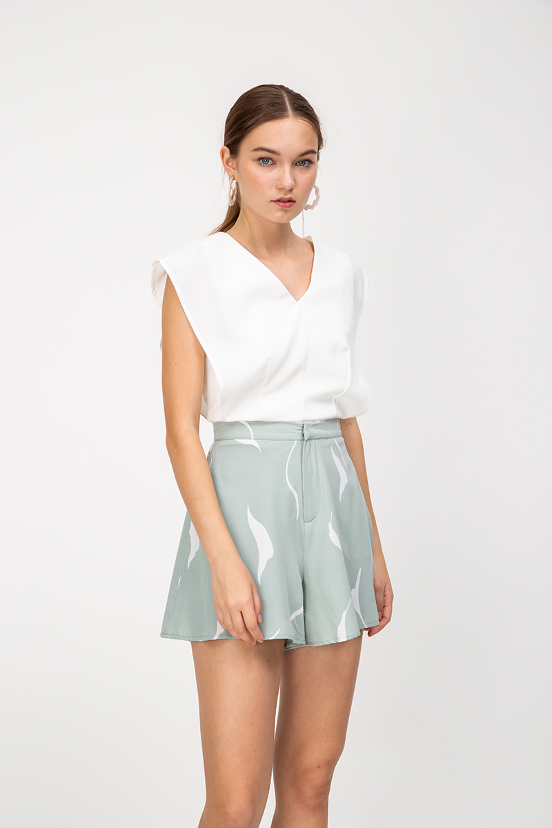 YSOTTE ABSTRACT HIGHWAIST SHORTS