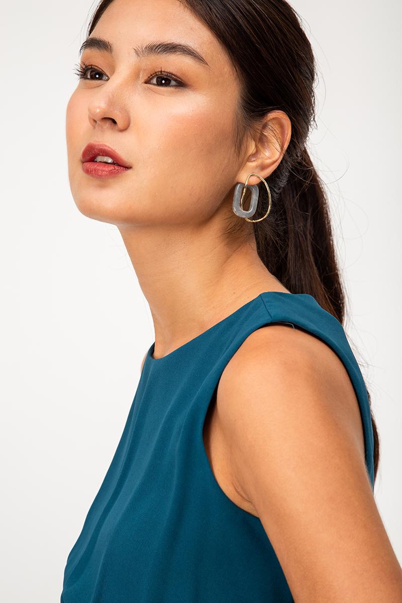 RESIN INTERTWINED LOOP EARRINGS