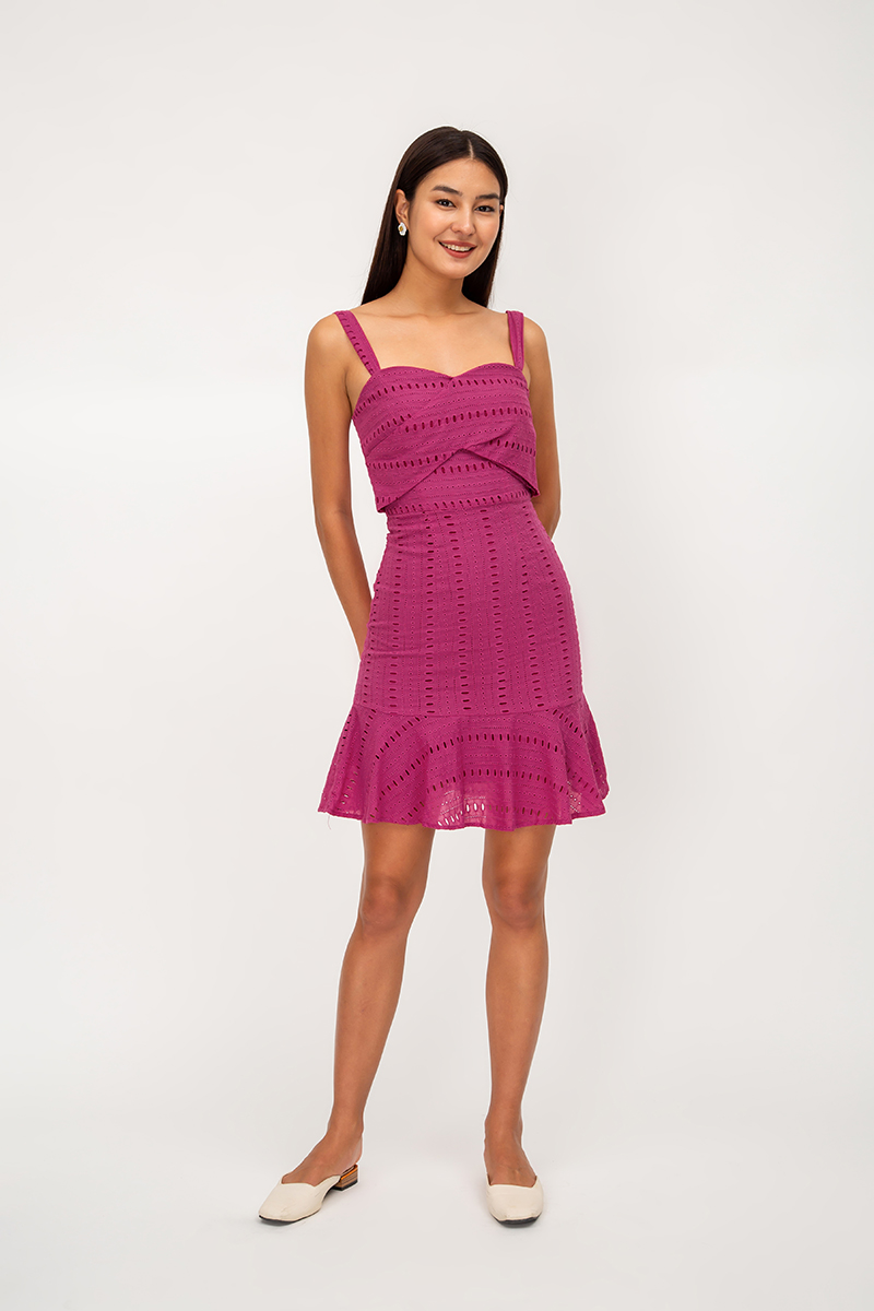 CEDRO EYELET SWEETHEART DRESS