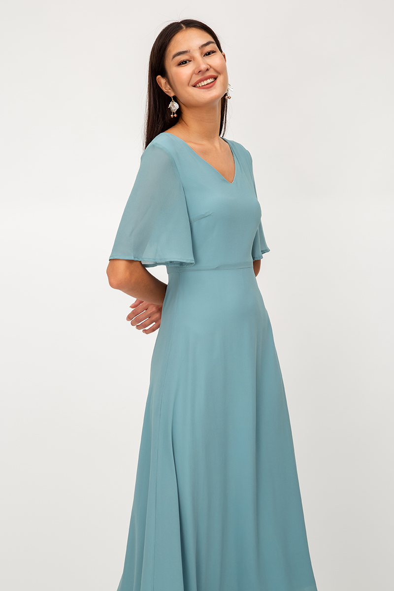 AUBREE TIEBACK MAXI DRESS