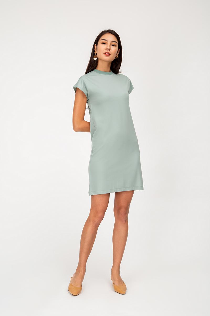 SAWYER HIGHNECK BASIC DRESS