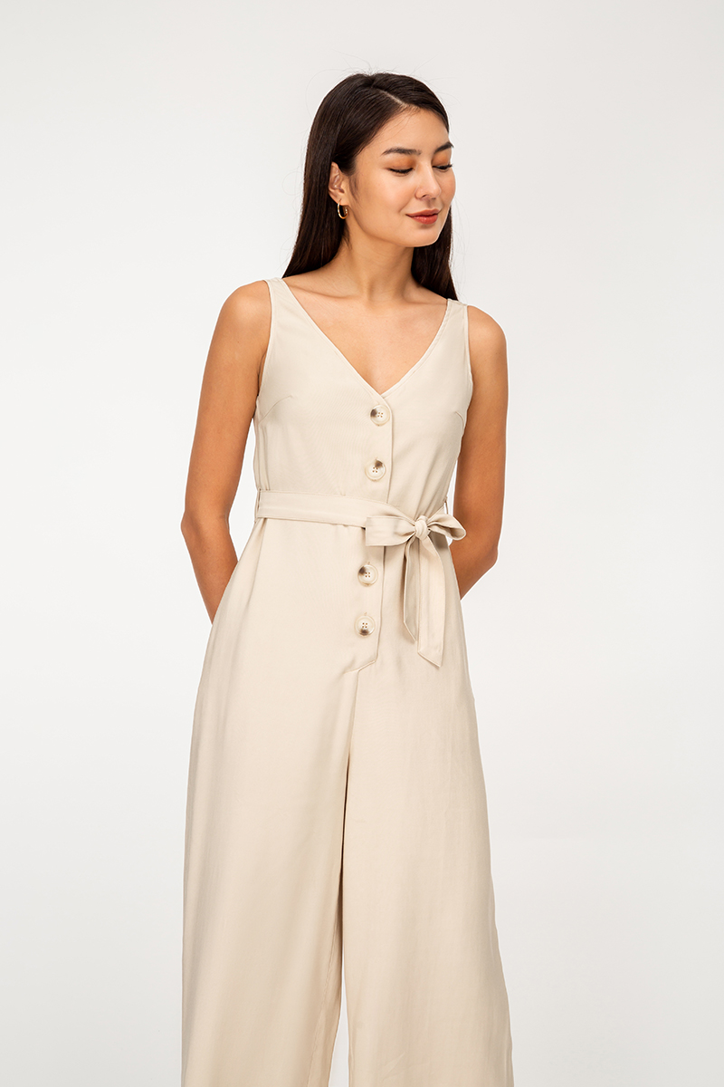 WAYLON BUTTONDOWN JUMPSUIT W SASH