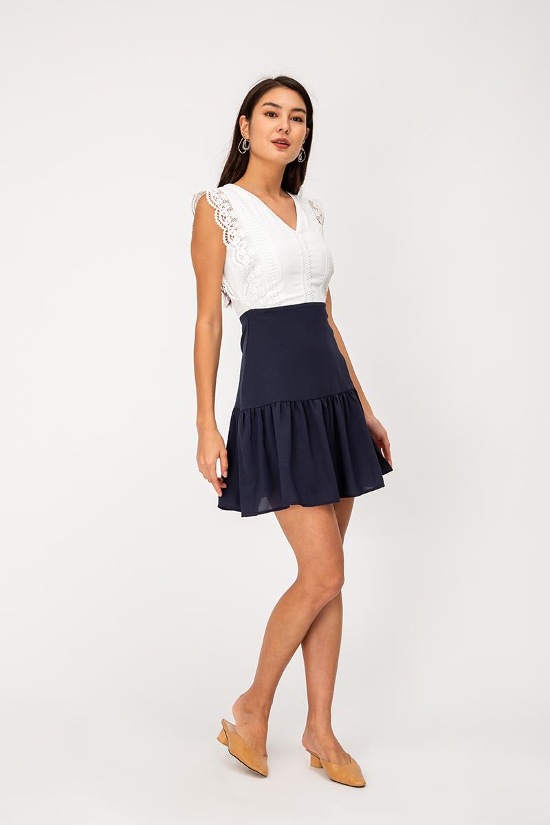 TALYA CROCHET COLOURBLOCK DRESS