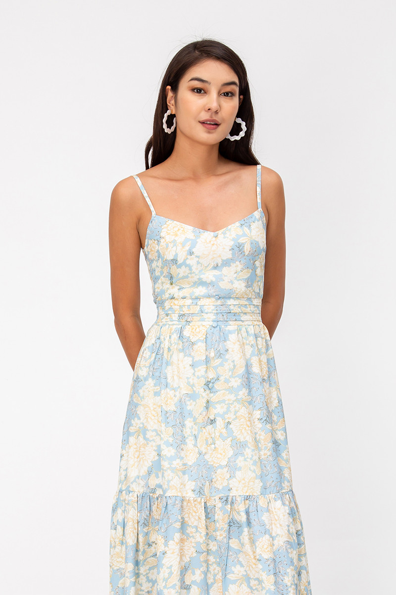 *BACKORDER 2* KATINA FLORAL MIDI DRESS