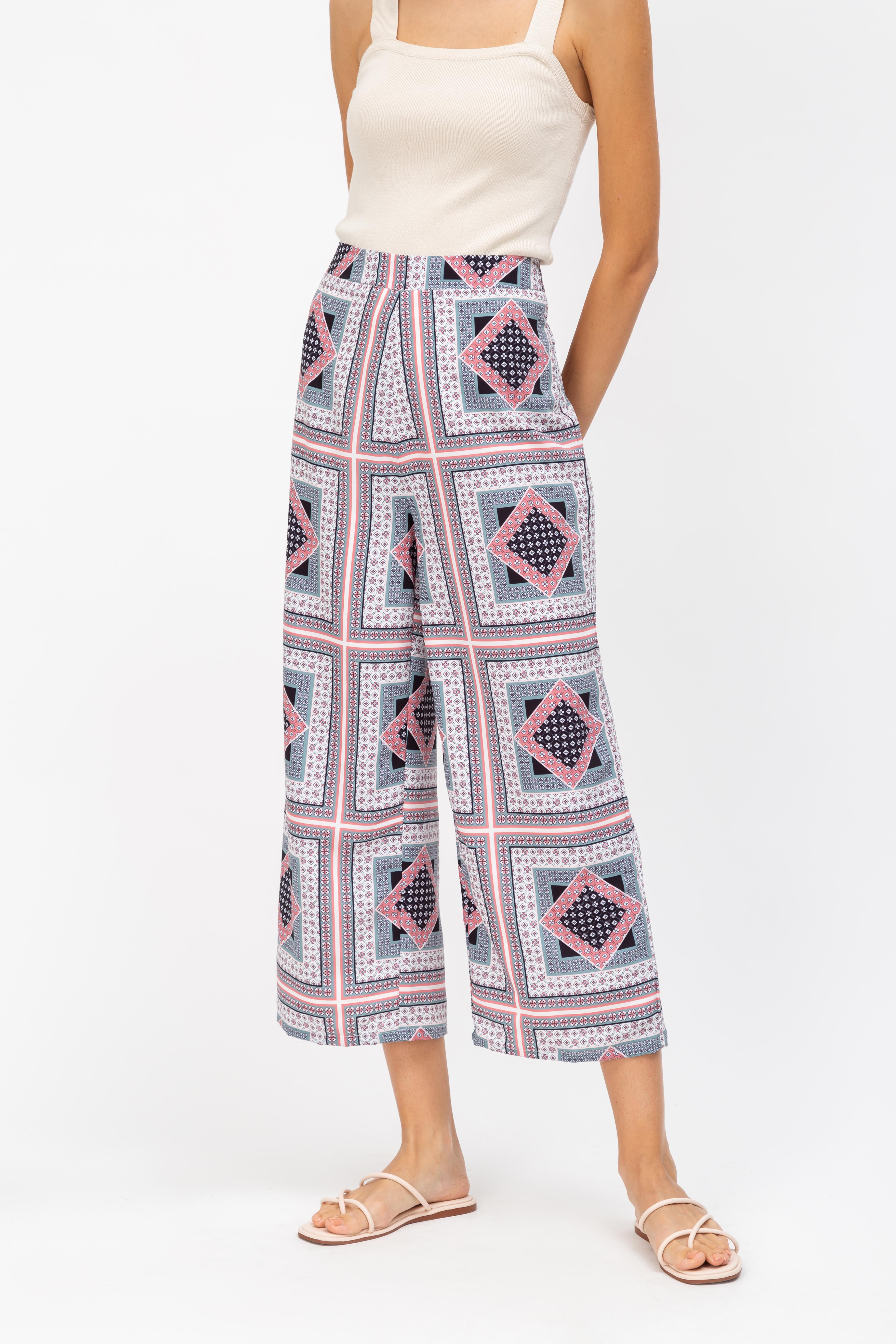 MARTHA ABSTRACT FLARE PANTS