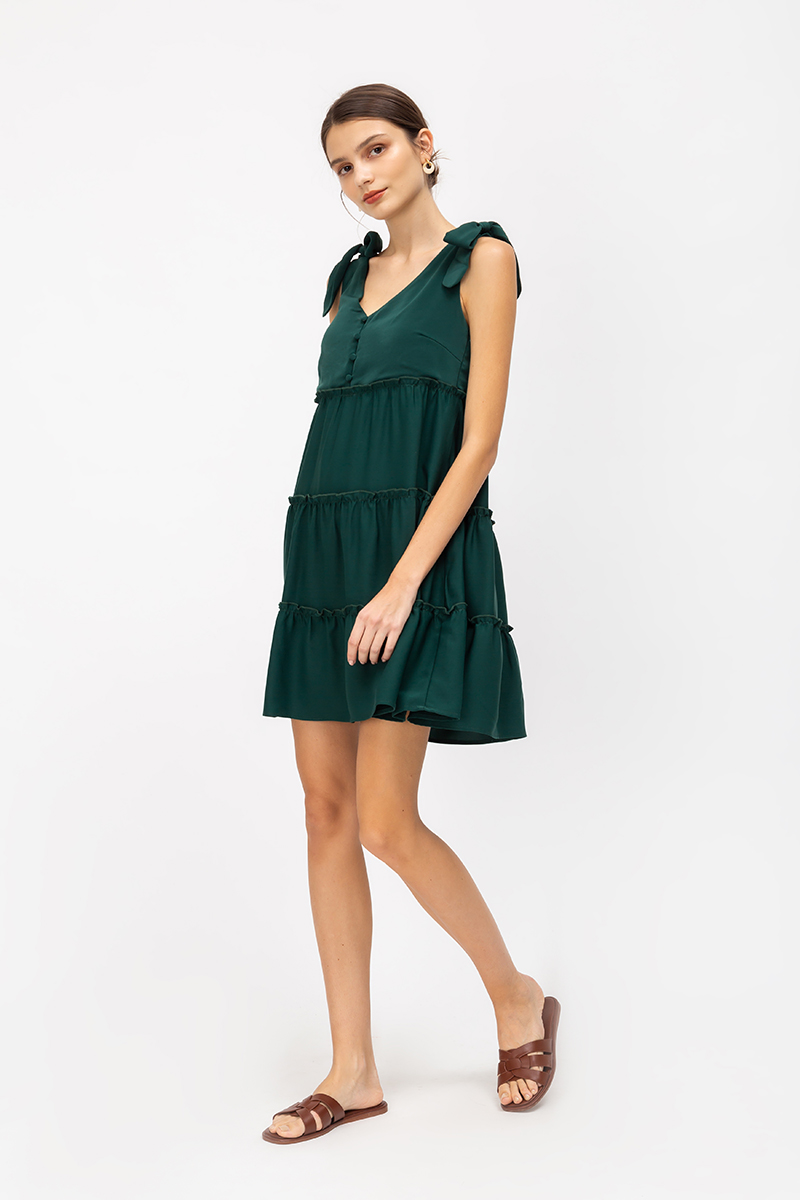 AVALIN TIERED MINI DRESS