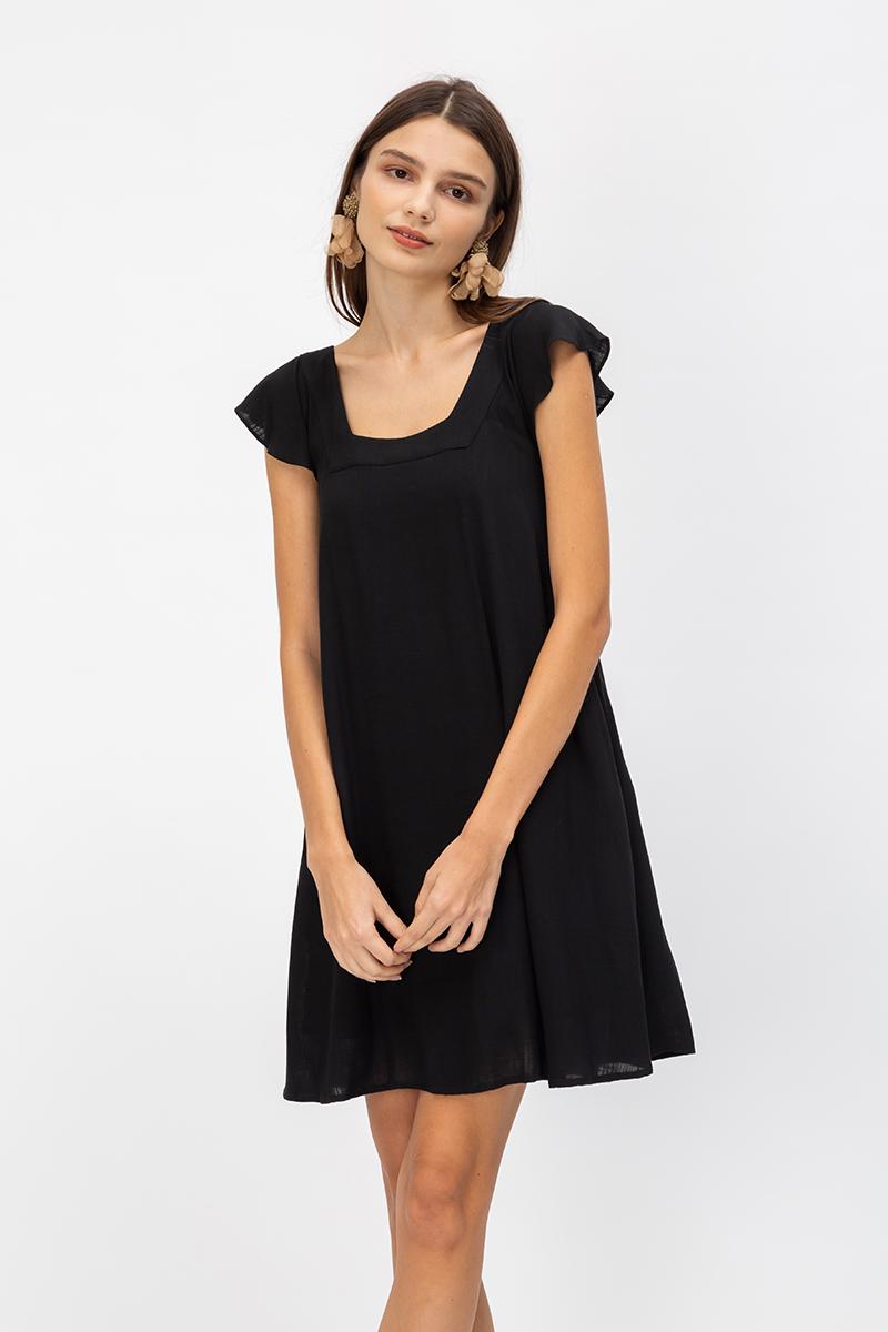 DELINA SQUARENECK TWOWAY DRESS