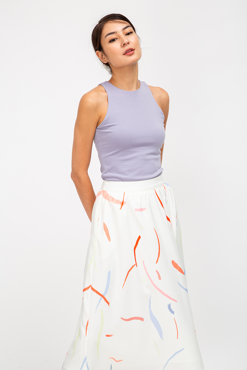 *BACKORDER* LUELLA PAINTSTROKE MIDI SKIRT