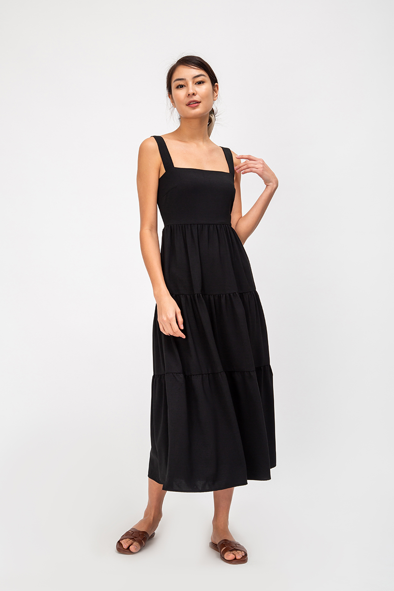 *BACKORDER* CARLENE TIERED MAXI DRESS W SLIT