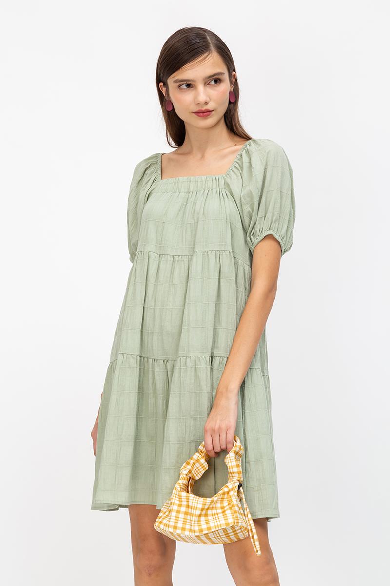*BACKORDER* JAZINE PUFF SLEEVE COTTON DRESS