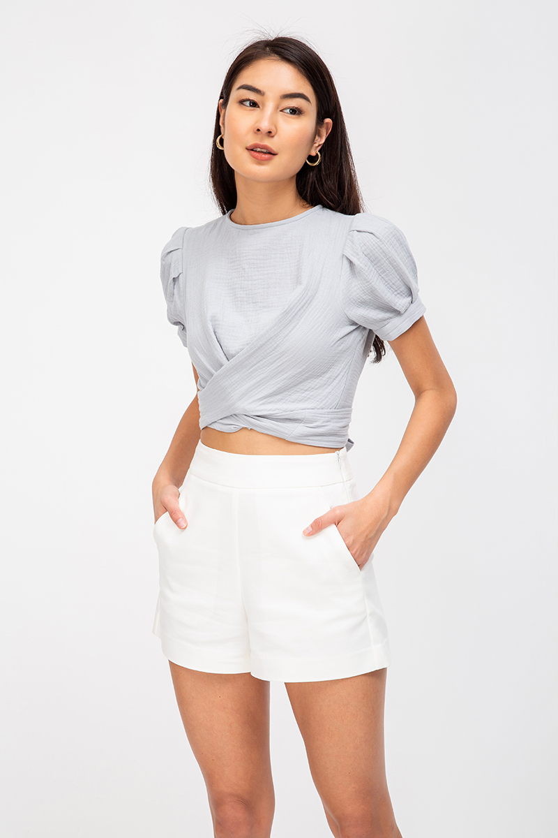 LESTER COTTON WRAP TOP