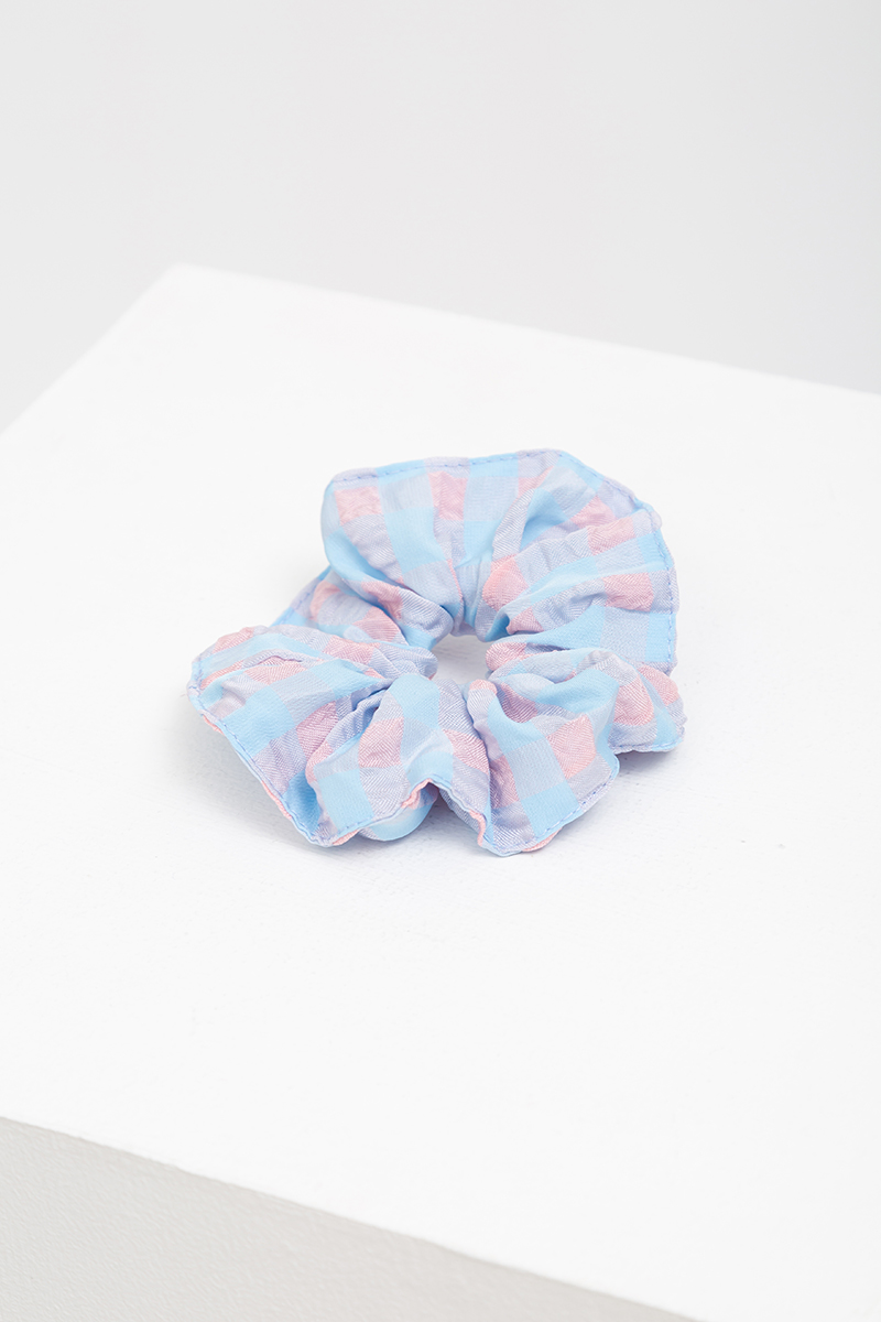 SET OF 2: TEXTURED GINGHAM SCRUNCHIES