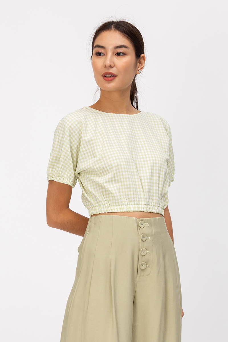 LINDY BUTTON PLEATED CULOTTES