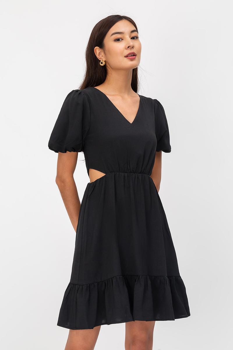 SOFIANE CUTOUT WAIST DRESS