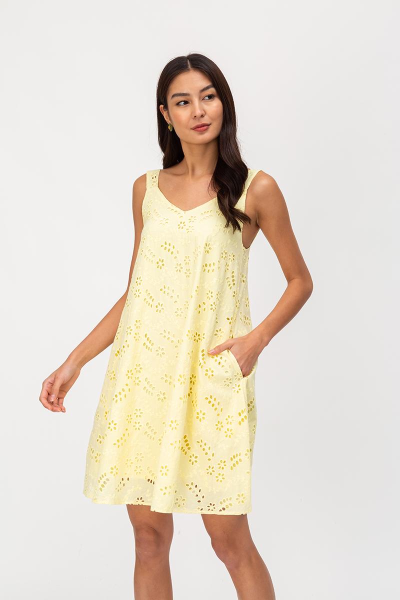 THEORA EYELET TENT DRESS