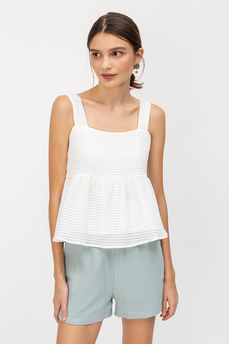 ZOEY TEXTURED BABYDOLL TOP